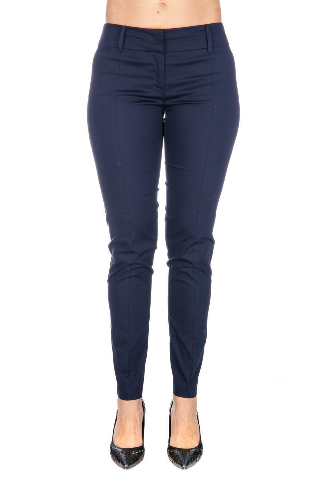 Pantalon Patrizia Pepe Femme en Gabardine de Coton Bleu BP0368 A2NJ C602 Lapis