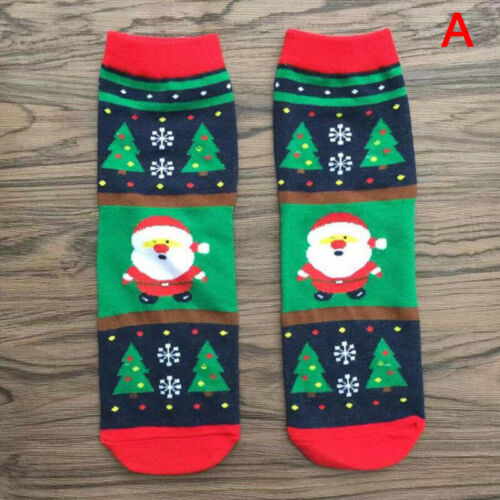 Christmas Socks Santa Claus Gift Kids Unisex Xmas Funny Socks Boy Girl Women NEW