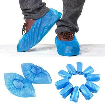 PE Non-Slip /& Germ Protective 100Pcs Disposable Waterproof Boot /& Shoe Covers