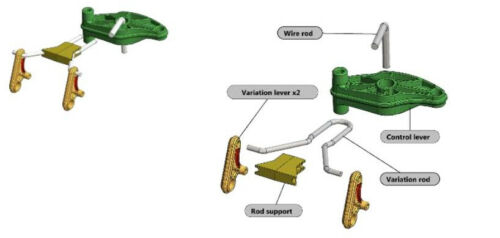 Variation Kit General Transmission replaces John Deere MIA12755 D105 X105