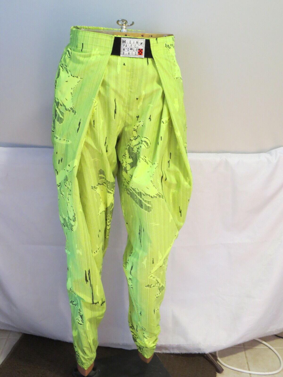 Vintage Snowboard Pants - Ocean Pacific Neon Gelb 1980s -