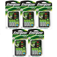 5 Pack Energizer Value Charger With Aa Rechargeable Nimh Batteries Chvcmwb-4 on sale