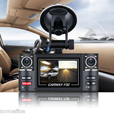 "2.7"" Dual Lens Car Vehicle 1080P HD Dash Camera DVR Cam 8 Night Vision Recorder"