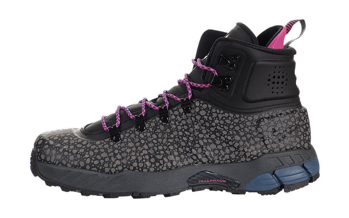 Nike Zoom MW Posite Shoes (9) Black / Pink Foil Gamma Blue