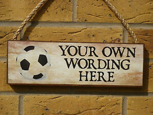 PERSONALISED-GARDEN-SIGN-FOOTBALL-SIGN-OWN-WORDING-OWN-NAME-TO-ORDER-KIDS-SIGNS