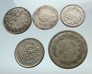 GROUP-LOT-of-5-Old-SILVER-Europe-or-Other-WORLD-Coins-for-your-COLLECTION-i75490