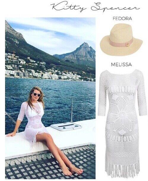 BNWT  Melissa Odabash White Crochet Beach Cover Up Dress Net A Porter large