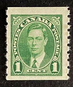 Canadian Stamp, Scott #238 1c Coil Perf 8 Vertically VF M/LH 1937