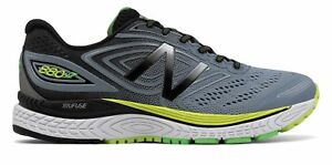 New-Balance-Men-039-s-880V7-Comfortable-Running-Shoes-Grey-With-Black-amp-Yellow