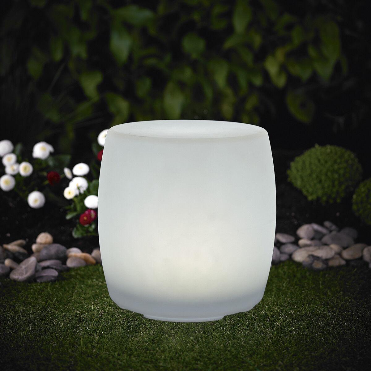 4 Piezas XL LED Luz Solar Tambor Luz 30x38cm Cambio de Color RGB LK08 Jardín
