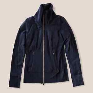 Lululemon Daily Yoga Black Mock Neck Jacket Womens Size 4