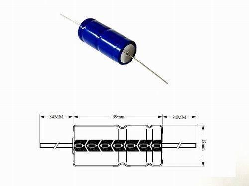 Elko ALU-elettroliti Condensatore assiale 4700µf 16v 20/% Assiale 125 ° 18mm x 39mm 1 ST