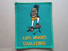 J M's Moors Challenge Walking Hiking Woven Cloth Patch Badge