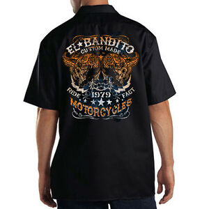 Dickies Mechanic Work Shirt El Bandito 1979 Custom Made