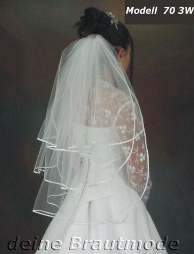 Voile mariée voile Feintüll 70cm par robe de mariée Nouveau