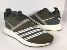 96a32f78f Adidas NMD R2 PK SAMPLE White Mountaineering Olive White Mens Size 9 Rare  CG3649