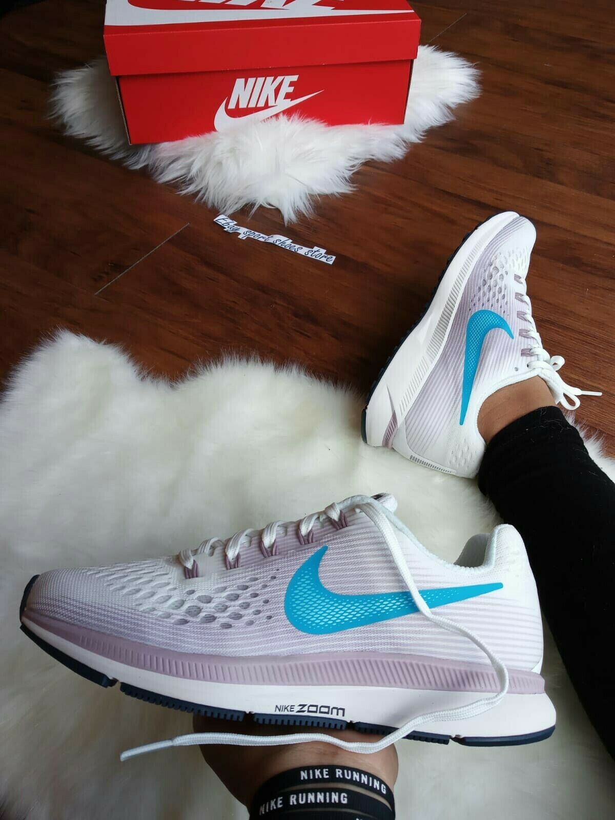 Dimensione 6 donna NIKE AIR ZOOM PEGASUS 34 880560-105 SUMMIT bianca RUNNING scarpe