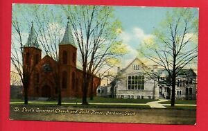 Jackson-MI-Michigan-St-Paul-039-s-Episcopal-Guild-Postcard