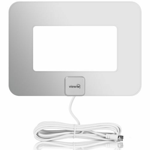 ViewTV VT-9047E Antenna Flat Amplified HD Digital TV Antenna Silver