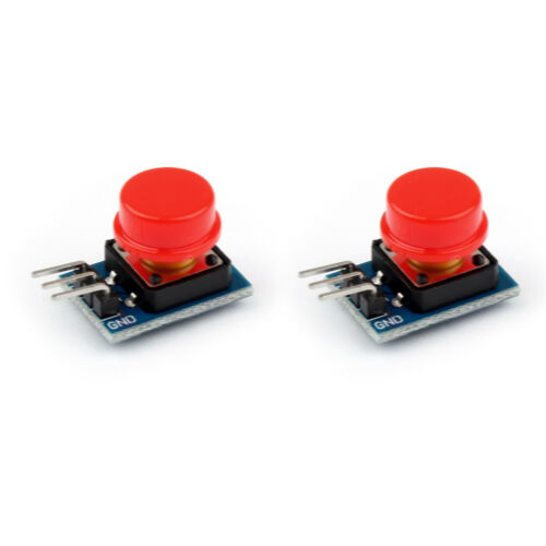 Red 12x12MM Big Key Button Touch Switch With Hat Output Module for Arduino
