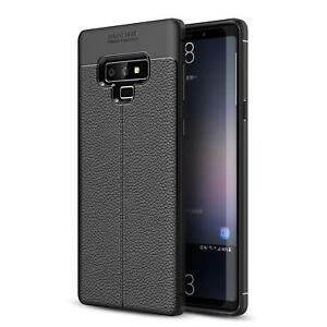 SAMSUNG GALAXY NOTE 9 - ULTRA SLIM PU LEATHER CASE REINFORCED TPU BUMPER COVER