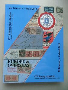 177. Stamp Auction Europe & Overse AS ... 2013 Briefmarken Numismatik - Eggenstein-Leopoldshafen, Deutschland - 177. Stamp Auction Europe & Overse AS ... 2013 Briefmarken Numismatik - Eggenstein-Leopoldshafen, Deutschland