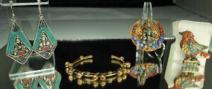 Antique-ETHNIC-JEWELRY-Lot-TIBET-NEPAL-BERBER-Turquoise-Coral-Lapis-Buddah-Tara