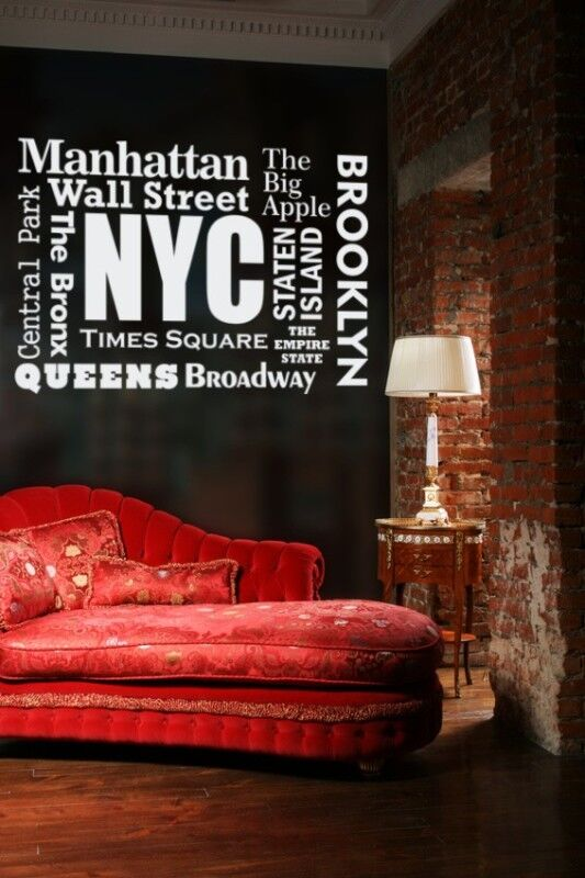 New York Wall Decal, New York Decor, Wanderlust Wall Decal, NYC Decal