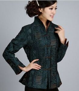 6-colours-Chinese-women-039-s-silk-jacket-coat-Cheongsam-Sz-M-L-XL-2XL-3XL