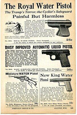 Blank Pistol 1926 small Print Ad of Miniature Blank Rifle .25 Auto Pistol
