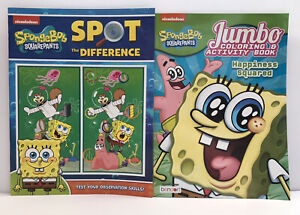 2-SpongeBob-SquarePants-Gift-Set-Coloring-Activity-Spot-The-Difference-Books