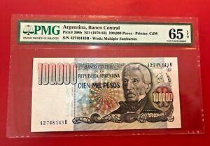 1979-83-ARGENTINA-BANCO-CENTRAL-100000-PESOS-PMG-65-EPQ-GEM-UNCIRCULATED
