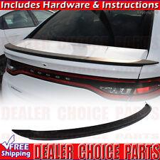 13-16 Dodge Dart MATTE BLACK OEM Factory Style Spoiler Wing Rear Trunk Fin ABS