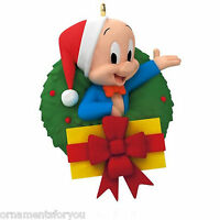 Hallmark 2015 Merry Christmas Folks Porky Pig Looney Tunes Ornament Creased Box