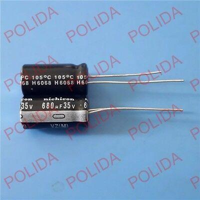 50PCS Electrolytic Capacitor Nichicon [ SIZE ] 10*20mm 680UF35V / 35V680UF