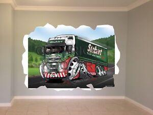 Huge-Koolart-Cartoon-Volvo-Eddie-Stobart-Wall-Sticker-Poster-Mural-3048