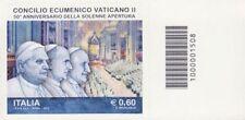 1508 CODICE A BARRE SOTTO O SOPRA 50 ANNIV CONCILIO VATICANO II 0.60 ANNO 2012