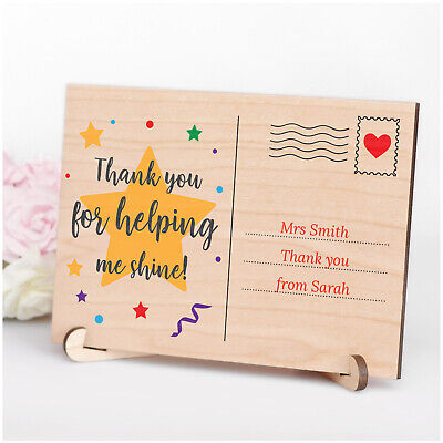 PERSONALISED Male Female Teacher Assistant Nursery Thank You Wood Plaque Gifts