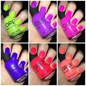 Image Is Loading Orly Neon Nail Polish Lacquer 18ml Adrenaline Rush