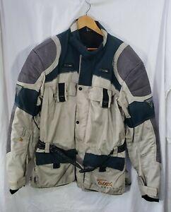 Hein Gericke Mens Large Tuareg Armored & Vented Motorcycle Jacket W/ Liner