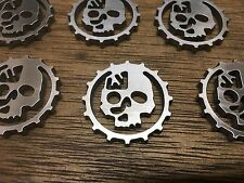 WarHammer Objective Markers - Adeptus Mechanicus - Stainless Steel - 30mm