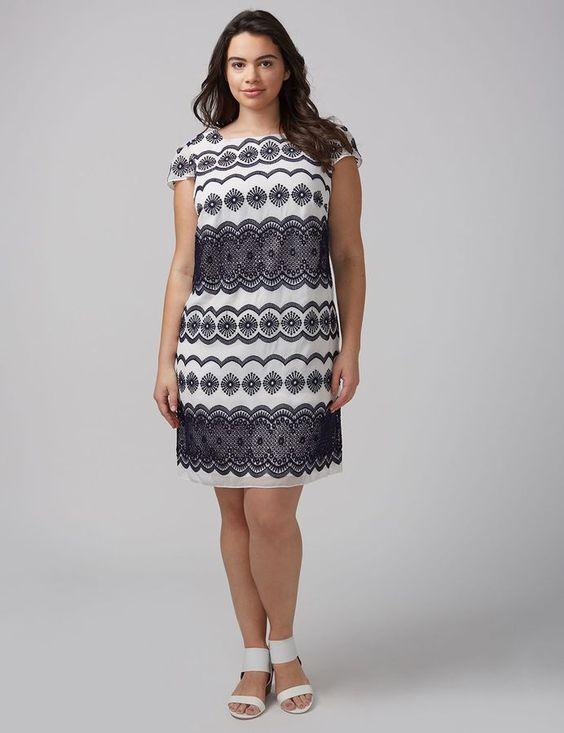895ef2eb5e5 NEW BRYANT PLUS SIZE CAP SLEEVE SHIFT DRESS BY JULIA JORDAN 18W EMBROIDERED  LANE oqjylw3221-Dresses