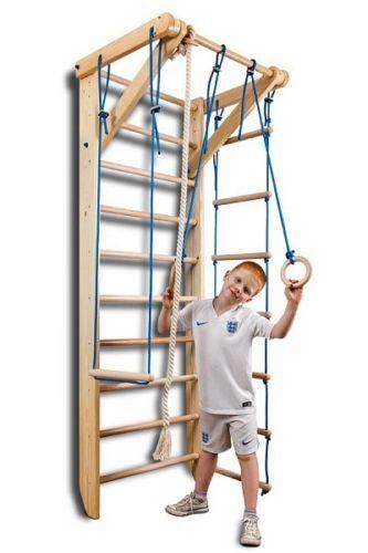 Ladder Swedish Sport Gym Wall bars Kid playground Baby Play Home Climbing 240cm