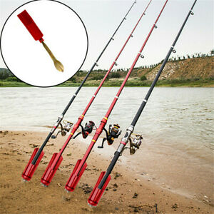 Stainless Steel Fishing Rod Stand Support Ground Holder Adjustable Pole Tool ^