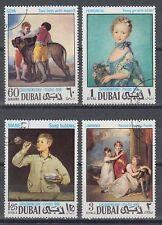 Dubai 1968 Mi.323/26 C perf.14 used c.t.o. Gemälde Paintings Goya Manet Lawrence