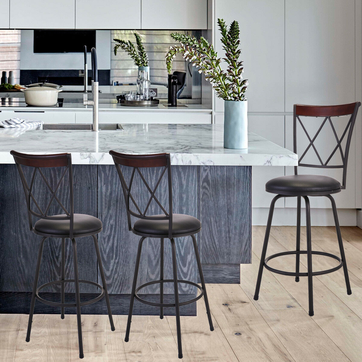 Picture of: Four Black Metal Kitchen Counter Chairs For Sale Online Ebay
