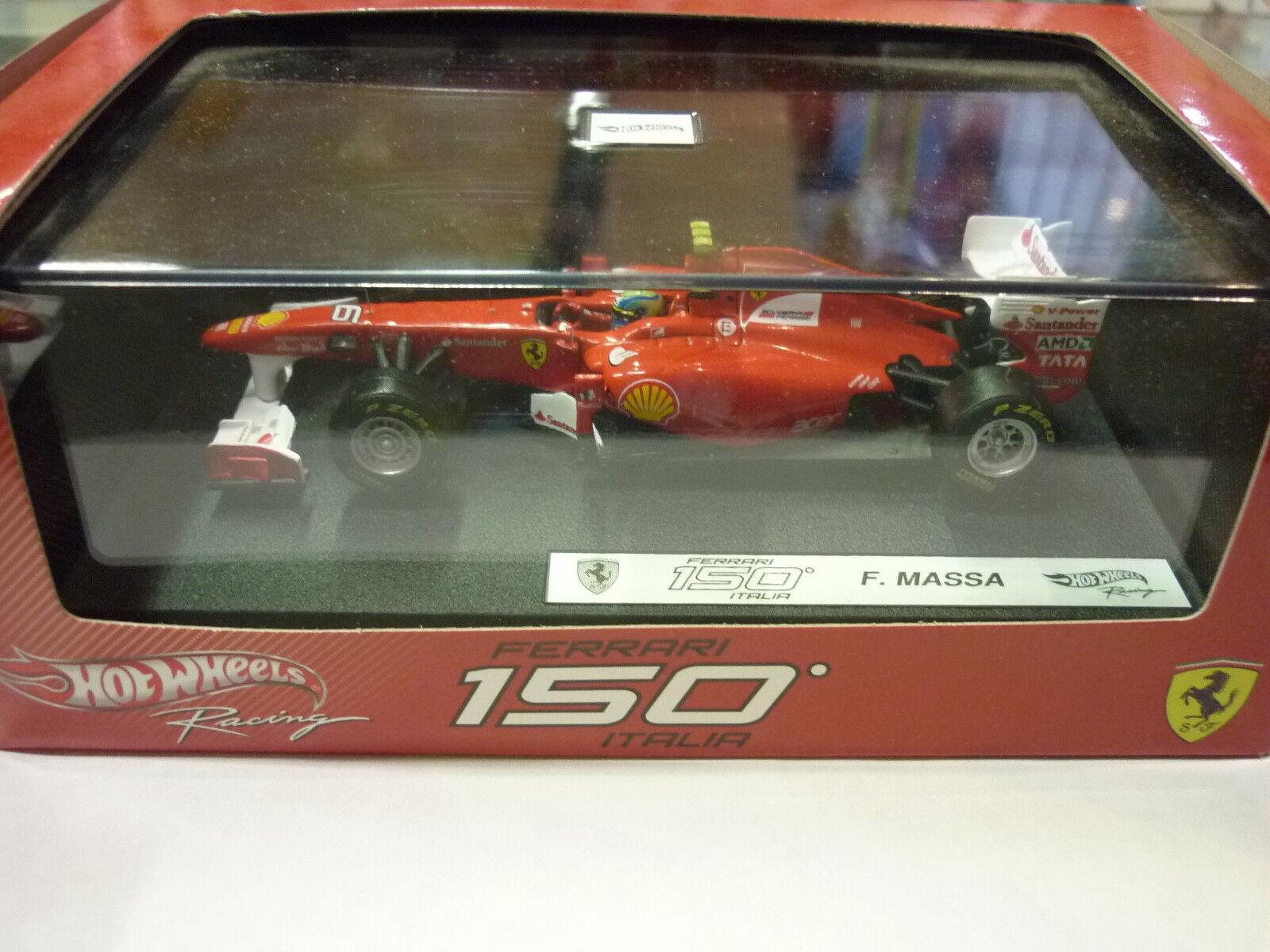 Garantía 100% de ajuste Hot wheels W1076 Ferrari Ferrari Ferrari 150ITALIA F.Massa 1 43  tienda de venta