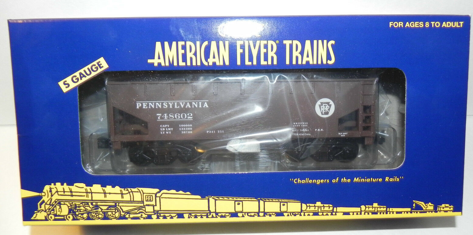 AMERICAN FLYER by LIONEL 48255 PENNSLYVANIA HOPPER - TTOS NEW IN BOX  MINT