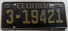 Oldie Nummernschild USA aus Florida von 1948. 13275.