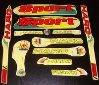 Haro Sport Bmx Sticker Set Early '90s Old School Freestyle Bmx Decal Set